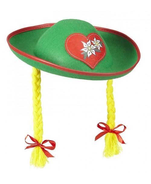 Sombrero Tiroles con Trenzas