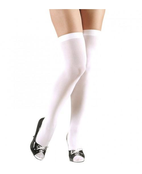 Calcetines Blancos sobre la Rodilla