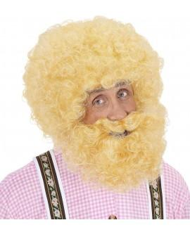 Peluca y Barba Rizada