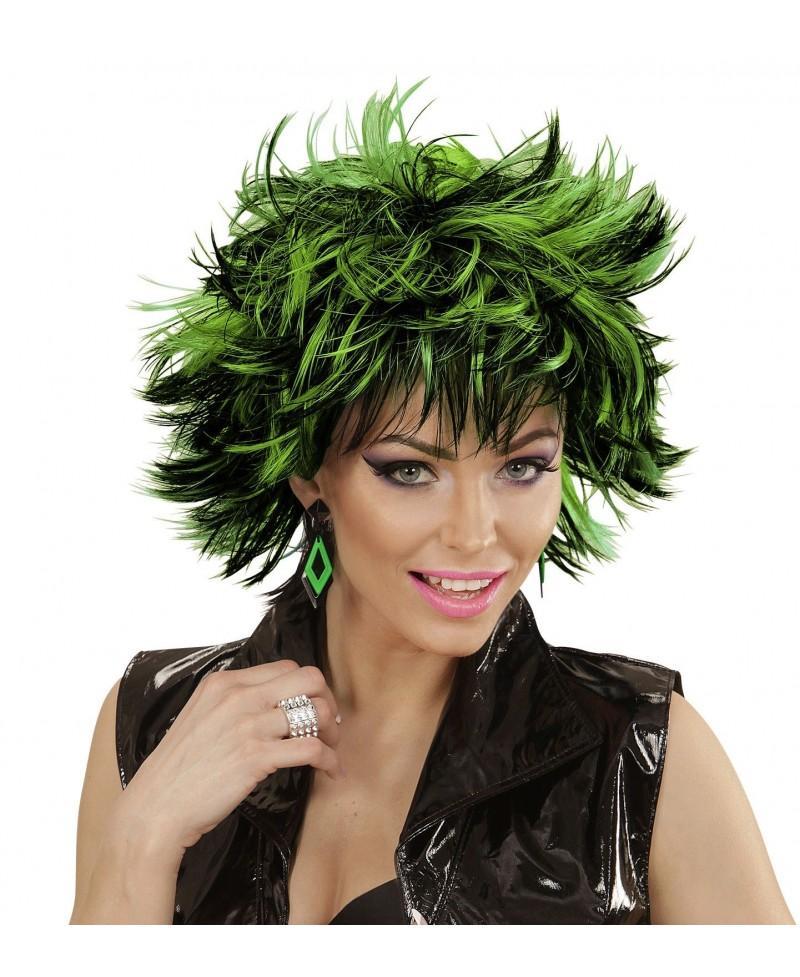Peluca Steamy Negro-Verde