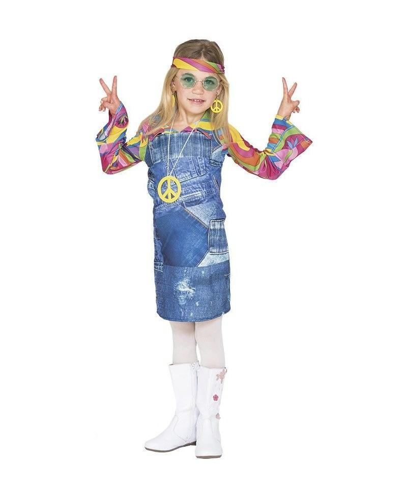 Disfraz Hippie Vaquera Niña