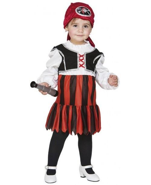 Disfraz de Pirata Bebé Niña