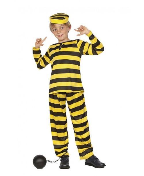Disfraz de Preso Amarillo Niño