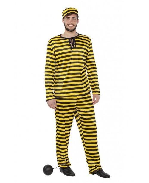 Disfraz de Preso Amarillo para Adultos