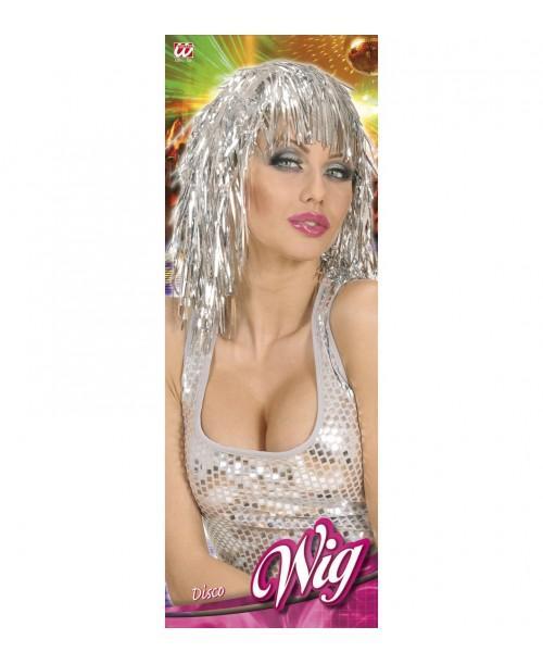 Peluca Disco Plateada