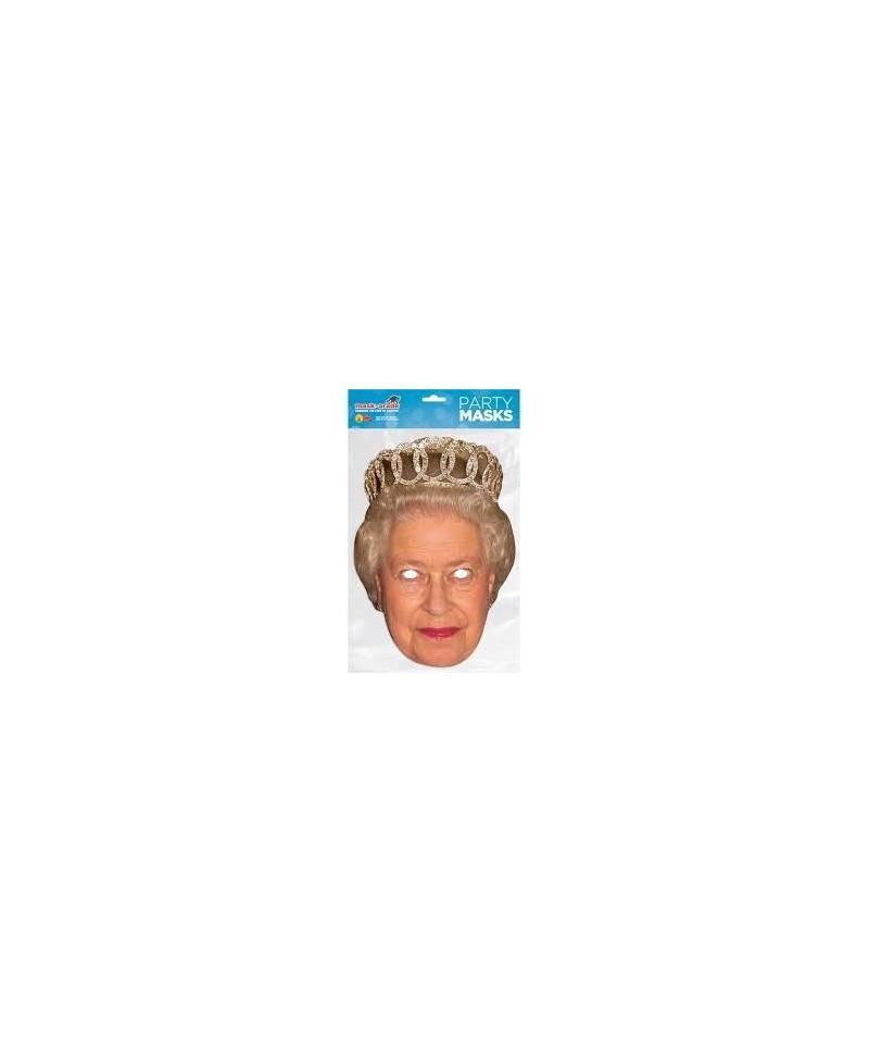 Careta de Cartón de Reina Elisabeth