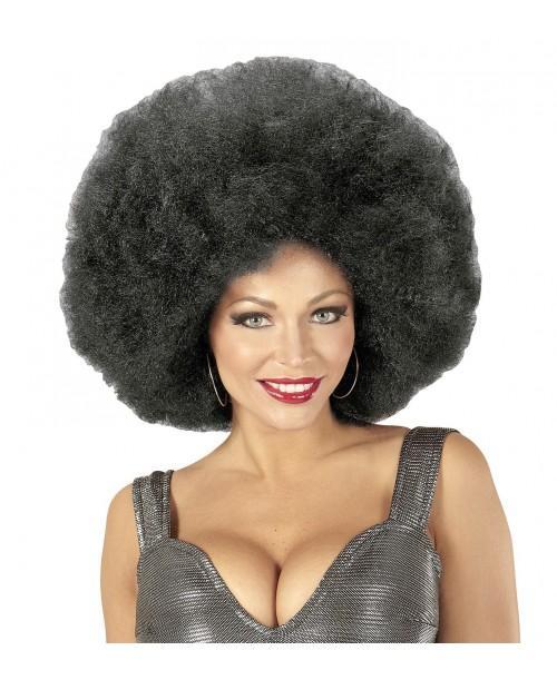 Peluca Afro Sobredimensionada Negra