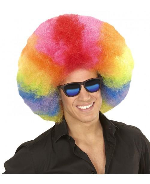 Peluca Afro Sobredimensionada Multicolor
