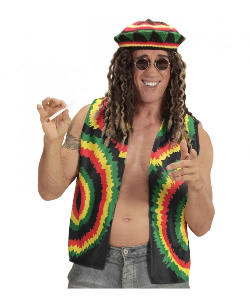 Chaleco Rastafarian para Adulto
