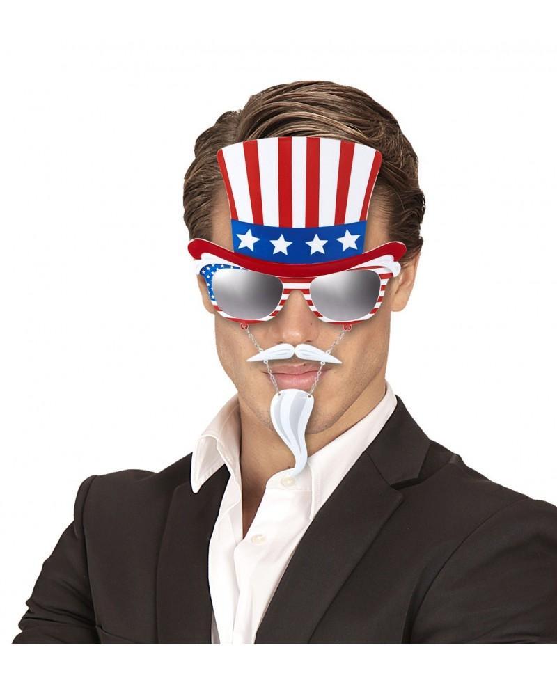 Gafas del Tio Sam con Bigote y Perilla