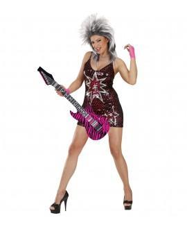 Guitarra Hinchable Zebra Rosa