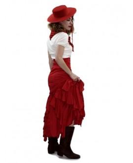 Falda de Flamenca Roja Adulto