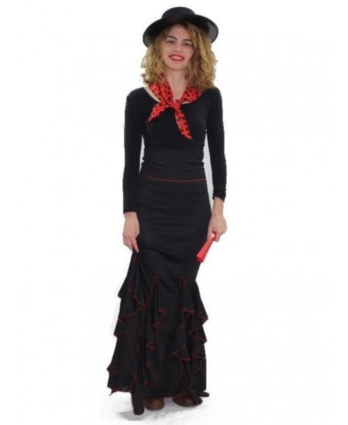 Falda de Flamenca Negra