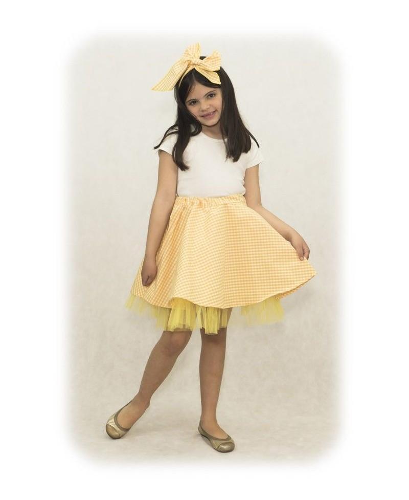 Falda de Vichy con Tul - Niñas