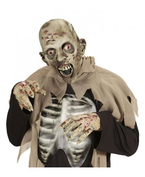 Máscara Cabeza Completa Zombie Lebroso