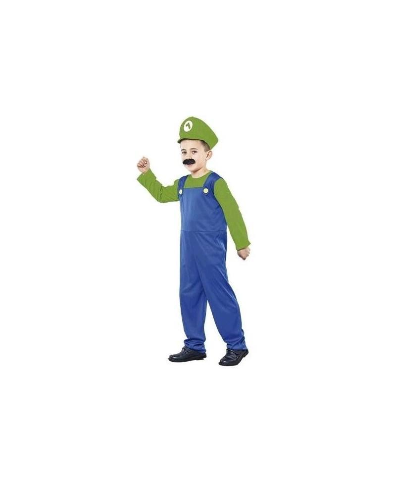 Disfraz Fontanero Verde Niño