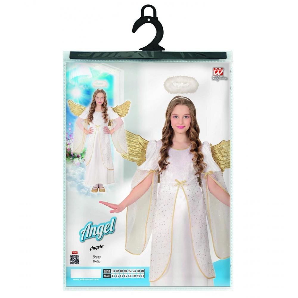 Disfraz Angelito Nia Disfraz De Charlestn Estampado Para Nia - Disfraz-angel-nia
