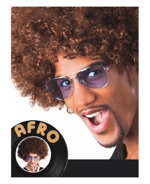 Peluca Afro Marrón