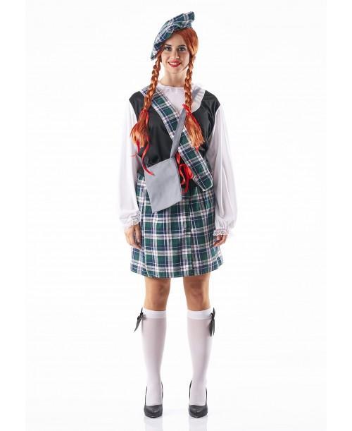Disfraz de Escocesa para Adulto
