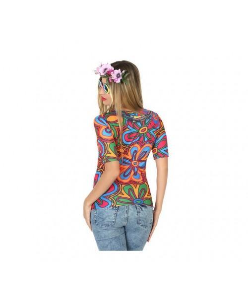 Camiseta Disfraz de Hippie Mujer