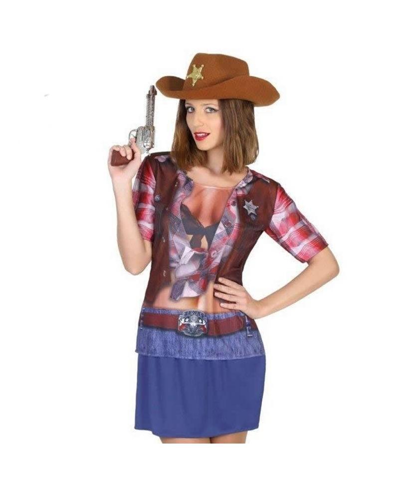 Camiseta Disfraz de Vaquera