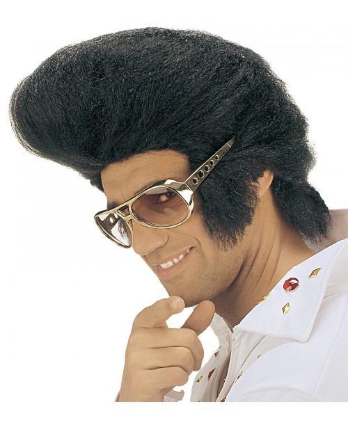 Peluca Negra Rey del Rock