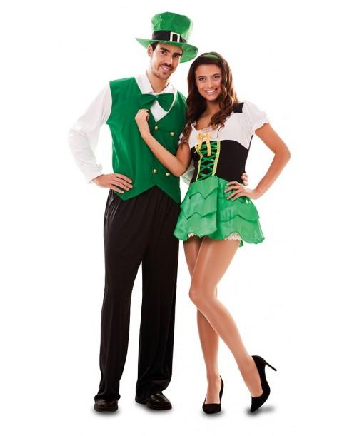 Disfraz de Duende Verde Chica