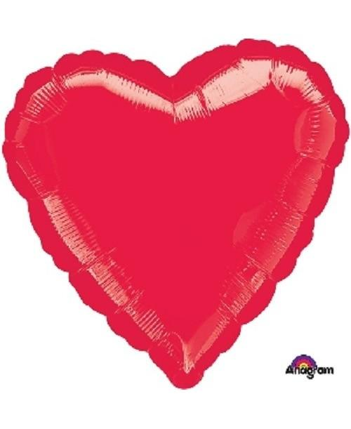 Globo Foil Corazón Rojo