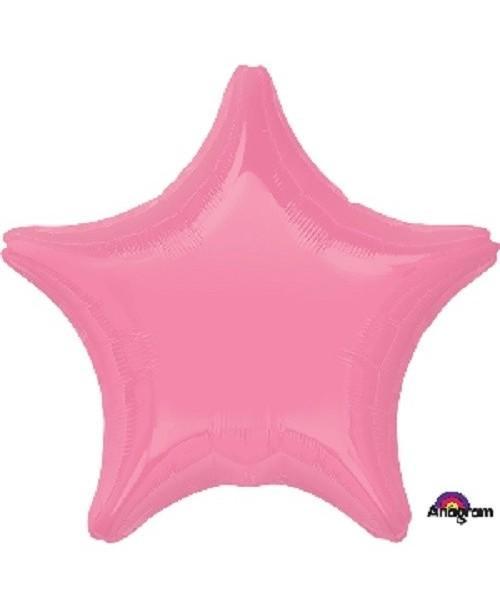 Globo de Estrella de Foil en Rosa