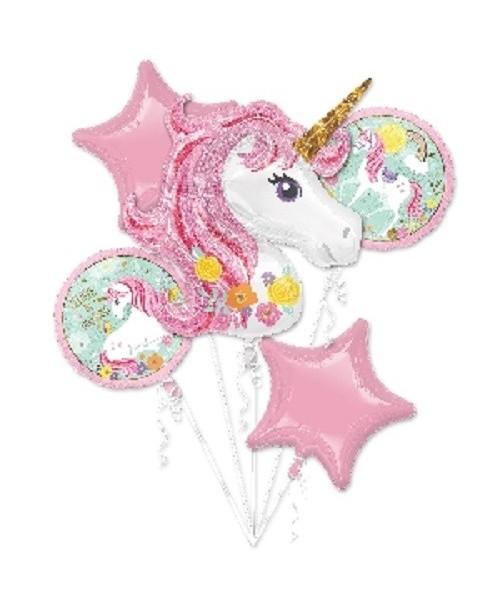 Bouquet Globos Foil Unicornio