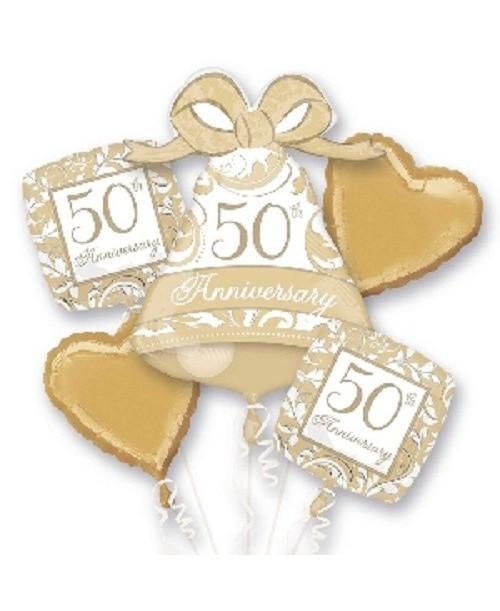 Bouquet Globos Foil 50 Oro