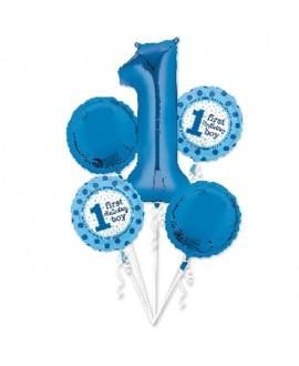 Bouquet de Globos Foil 1 Aniversario
