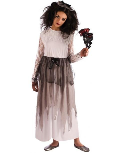 Disfraz de Novia Cadáver Infantil