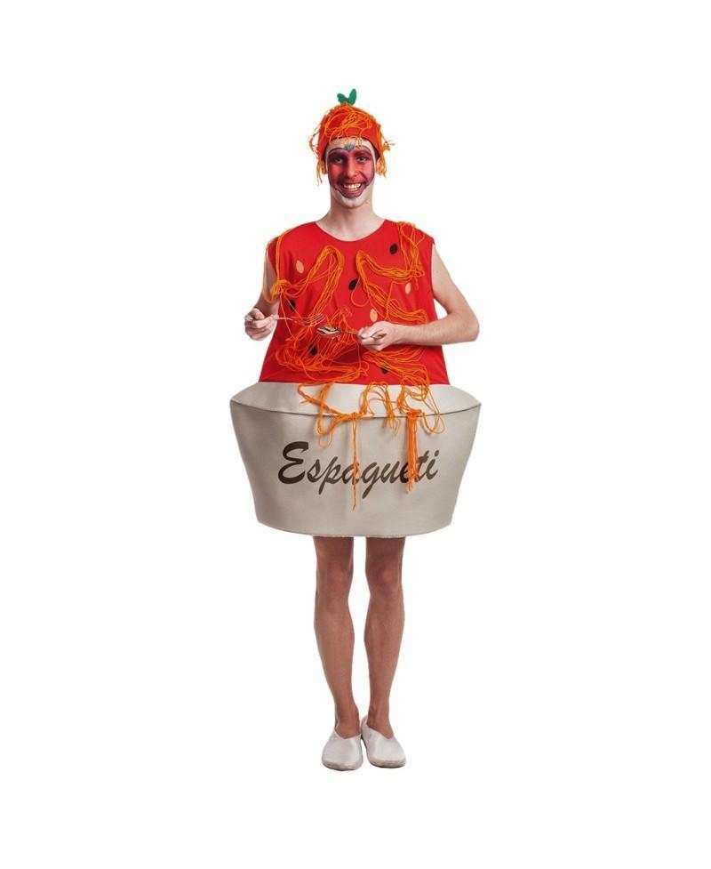 Disfraz de Plato Espaguetis para Adulto