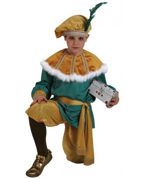 Disfraz Infantil Paje Melchor Lujo