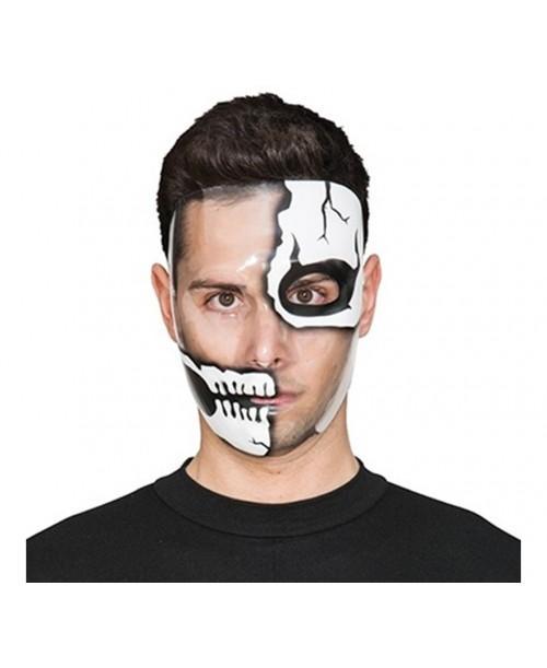 Careta Transparente Esqueleto