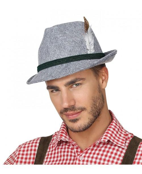 Sombrero Bávaro con Plumas