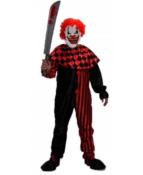 Disfraz de Payaso Diabolico Negro y Rojo