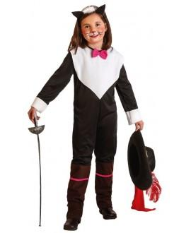 Disfraz de Gata Mosquetera Infantil