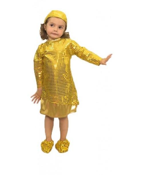 Disfraz de Burbuja Dorada Niñas