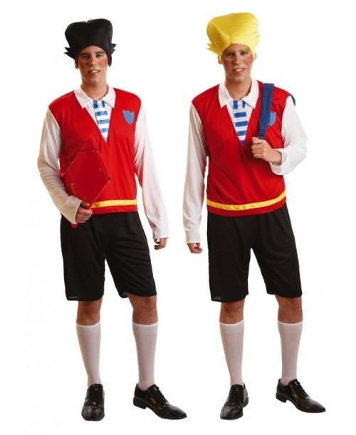 Disfraz Estudiante Rubio y Moreno