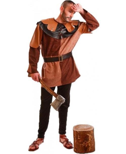 Disfraz de Leñador Medieval Marrón