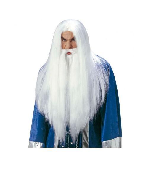 Peluca Hechicero con maxi barba