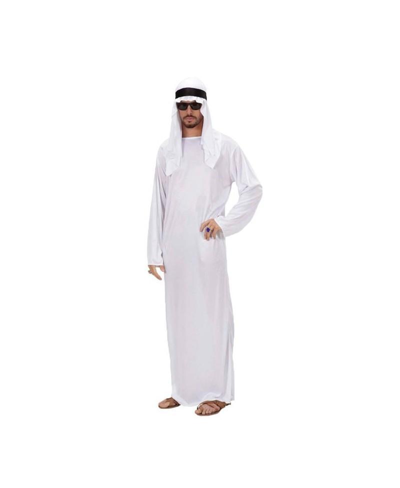 Disfraz de Jeque Árabe Blanco