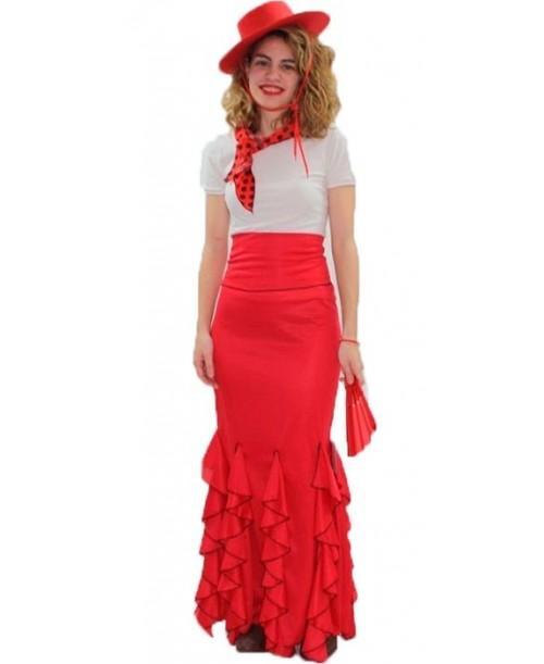Falda de Flamenca Roja