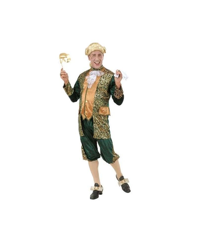 Disfraz de Marqués Verde y Dorado
