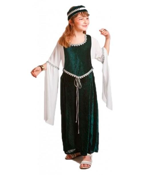 Disfraz de Doncella Medieval Verde Infantil
