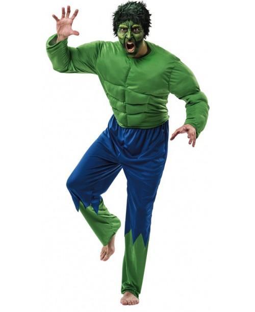 Disfraz forzudo verde